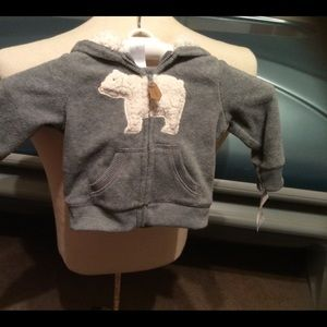 NWT Carter's 6 month hooded & eared jacket